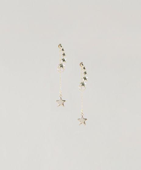 Brinco-Feminino-com-Estrelas-Dourado-9218437-Dourado_1
