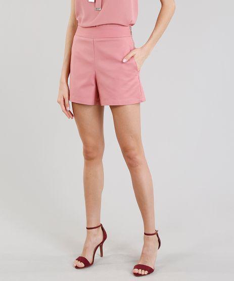Short-Feminino-Cintura-Alta-com-Ziper-Rose-8730697-Rose_1