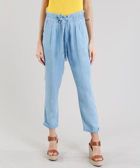 Calca-Jeans-Feminina-Clochard-com-Amarracao-Azul-Claro-9271805-Azul_Claro_1