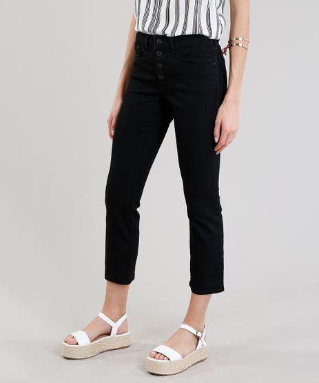 Calca-Jeans-Feminina-Slim-com-Botoes-Preta-9299942-Preto_1
