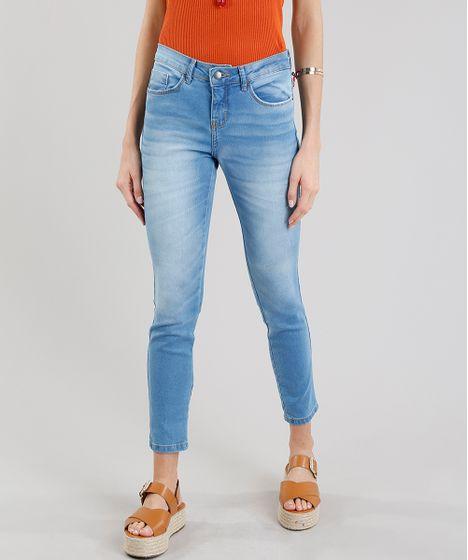 9188eabf2 Calca-jeans-Feminina-Skinny-Azul-Claro-9280667-Azul Claro 1 ...
