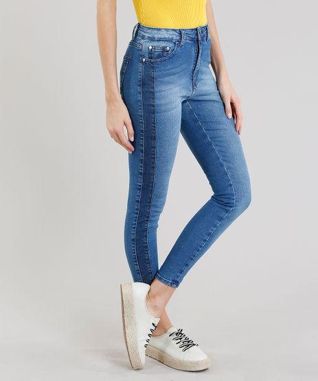 Calca-Jeans-Feminina-Cigarrete-com-Recorte-Azul-Medio-9211150-Azul_Medio_1