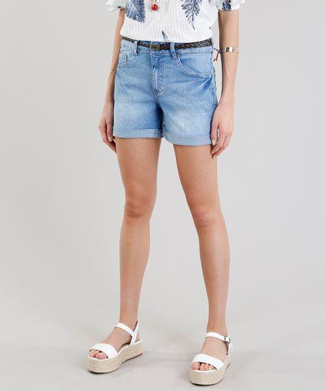Short-Jeans-Feminino-Midi-com-Cinto-Trancado-Azul-Claro-9283630-Azul_Claro_1