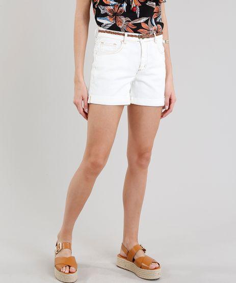Short-de-Sarja-Feminino-Midi-com-Cinto-Trancado-Off-White-9283631-Off_White_1