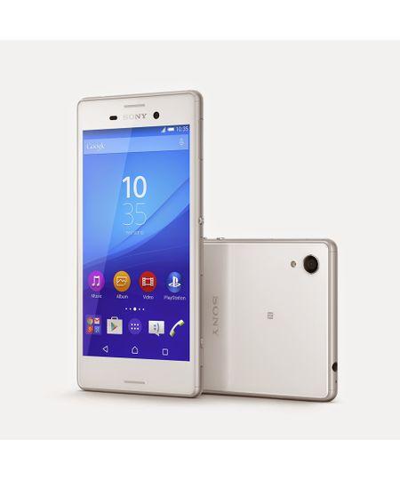 Smartphone Sony Xperia M4 Aqua Dual E2363 Tela 5 ´ HD 13 MP + Frontal 5MP Octa - core 4G Android 5.0 Lollipop Branco - Unico - COD. 2042838