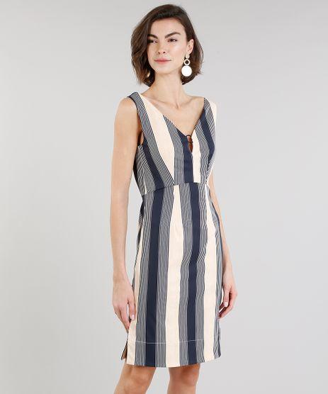 Vestido-Feminino-Listrado-com-Argola-Decote-V-Azul-Marinho-9197161-Azul_Marinho_1