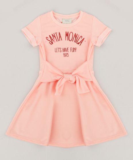 Vestido-Infantil-em-Moletom-Manga-Curta-Laranja-9247497-Laranja_1