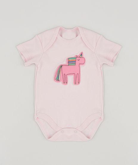 Body-Infantil-Unicornio-Manga-Curta-Rosa-Claro-9256083-Rosa_Claro_1