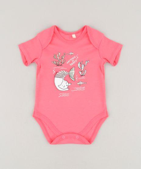 Body-Infantil-Gato-Sereia-Manga-Curta-Rosa-Escuro-9256085-Rosa_Escuro_1