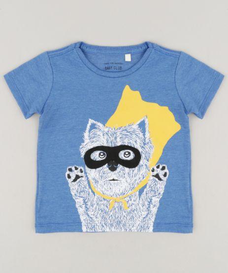 Camiseta-Infantil-com-Estampa-Interativa-Cachorrinho-Manga-Curta-Gola-Careca-Azul-9234068-Azul_1