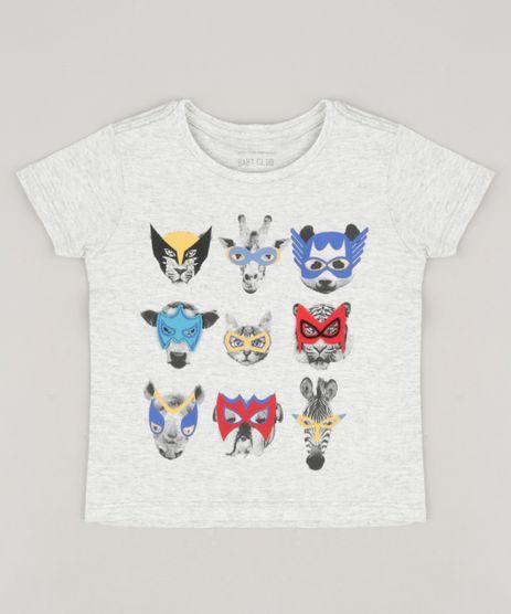 Camiseta-Infantil-com-Estampa-Interativa-Animais-Manga-Curta-Gola-Careca-Cinza-Mescla-Claro-9234056-Cinza_Mescla_Claro_1