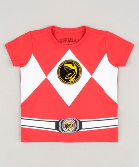 Camiseta-Infantil-Power-Ranger-em-Algodao---Sustentavel-Vermelha-9233892-Vermelho_1