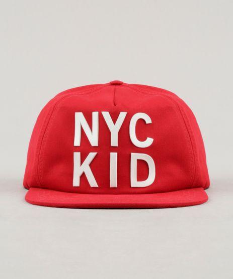 Bone-Infantil--NYC-Kid--Aba-Reta-Vermelho-9239868-Vermelho_1