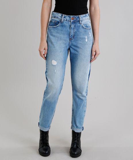 Calca-Jeans-Feminina-Mom-Pants-com-Listra-Lateral-Azul-Claro-9269761-Azul_Claro_1