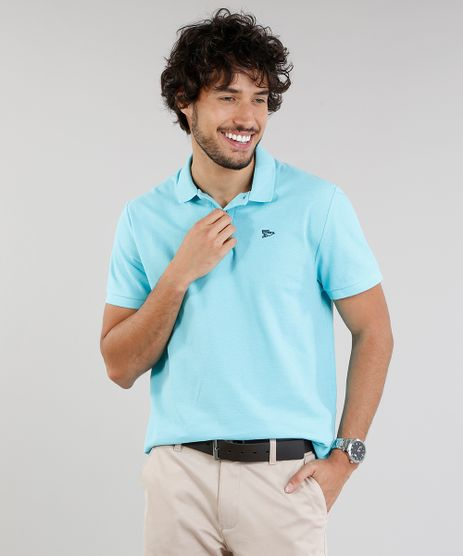 Polo-Masculina-Basica-em-Piquet-Manga-Curta-Azul-Claro-9107712-Azul_Claro_1