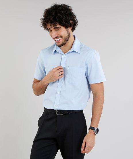 Camisa-Masculina-Comfort-Manga-Curta-com-Bolso-Azul-Claro-7602490-Azul_Claro_1