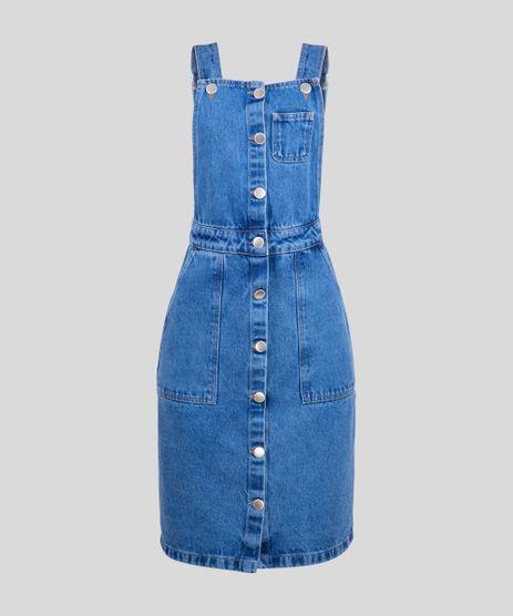 Jardineira-Jeans-Feminina-com-Botoes-Azul-Medio-9344512-Azul_Medio_2