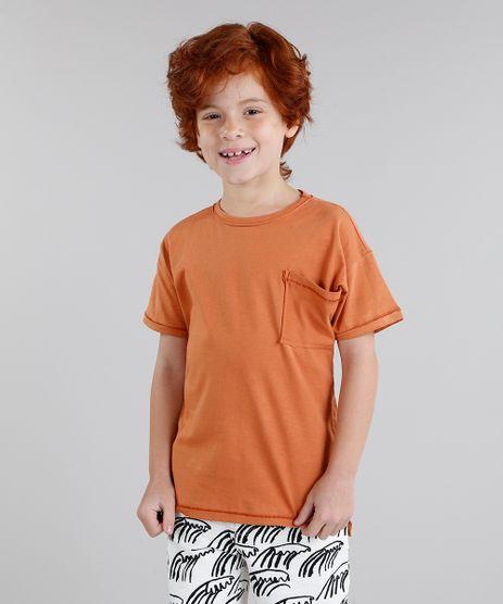 Camiseta-Infantil-Bento-Prancha-de-Surf-com-Bolso-Manga-Curta-Gola-Careca-Laranja-9242800-Laranja_1