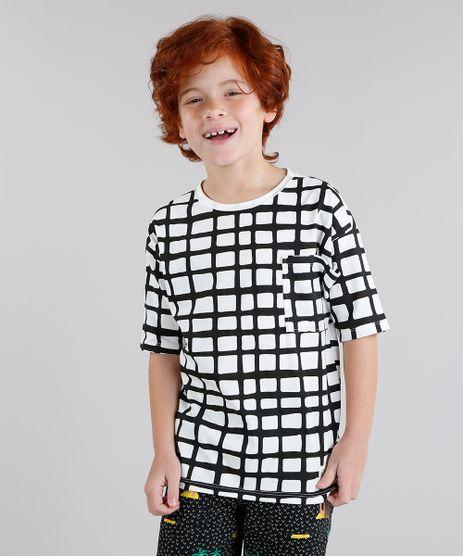 Camiseta-Infantil-Bento-Estampada-Grade-com-Bolso-Manga-Curta-Gola-Careca-Off-White-9242789-Off_White_1
