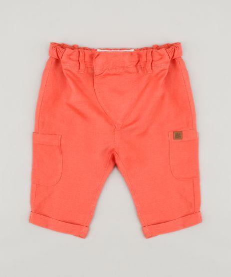 Calca-Infantil-Bento-com-Bolsos-Coral-9165224-Coral_1