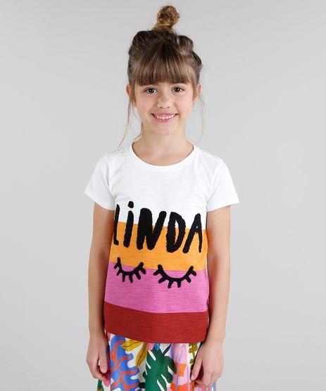 Blusa-Infantil-Fabula-Cropped--Linda--com-Listras-Manga-Curta-Decote-Redondo-Off-White-9217644-Off_White_1