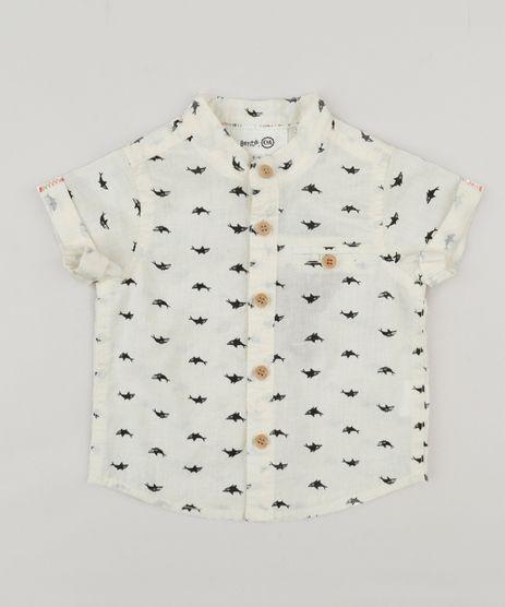 Camisa-Infantil-Bento-Estampada-de-Tubarao-Gola-Padre-Manga-Curta-Off-White-9164456-Off_White_1