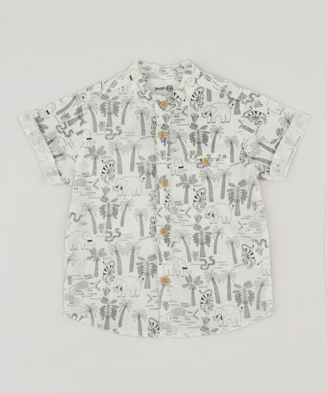 Camisa-Infantil-Bento-Estampada-Floresta-Gola-Padre-Manga-Curta-Off-White-9169658-Off_White_1