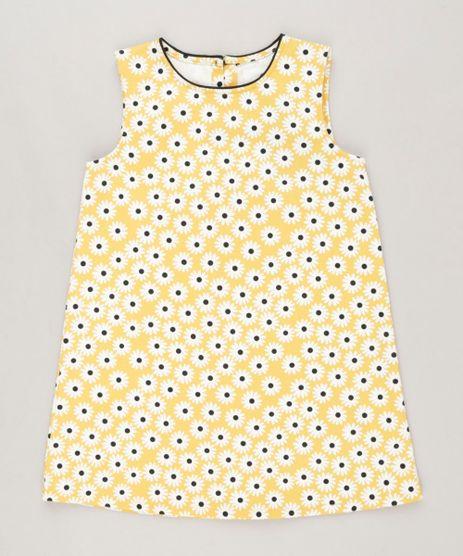 Vestido-Infantil-Fabula-Estampado-Margarida-Curto-Sem-Manga-Decote-Redondo-Amarelo-9186385-Amarelo_1