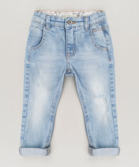 Calca-Jeans-Infantil-Slim-Bento-com-Puidos-Azul-Claro-9246009-Azul_Claro_1