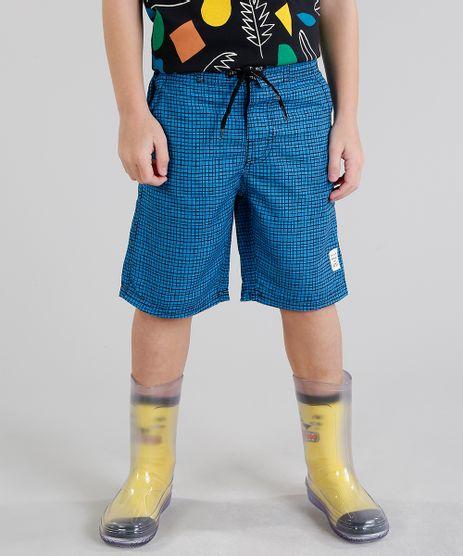 Bermuda-Infantil-Bento-Estampada-Quadriculada-com-Bolsos-Azul-9172174-Azul_1