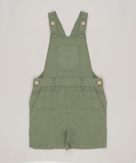 Jardineira-Infantil-Bento-com-Bolsos-Verde-Militar-9171692-Verde_Militar_1