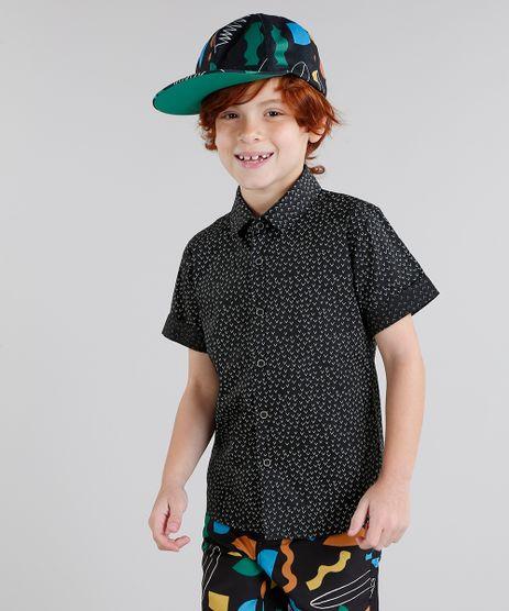 Camisa-Infantil-Bento-Estampada-Mini-Print-Geometrica-Manga-Curta-Preta-9169141-Preto_1