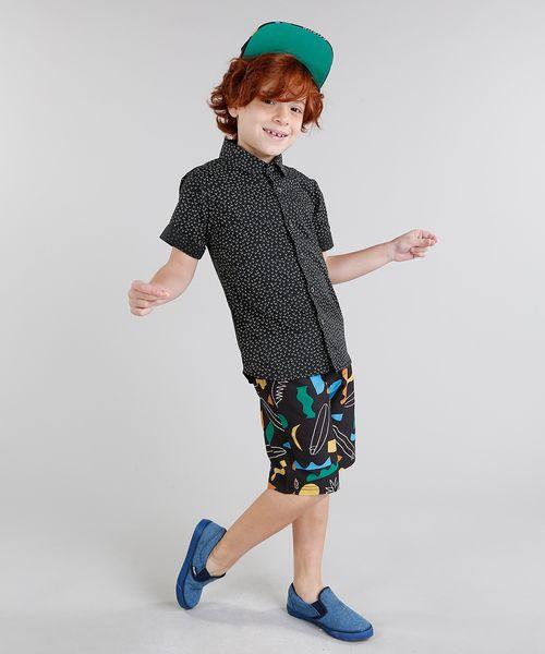 ec369df5ca Camisa-Infantil-Bento-Estampada-Mini-Print-Geometrica-Manga-