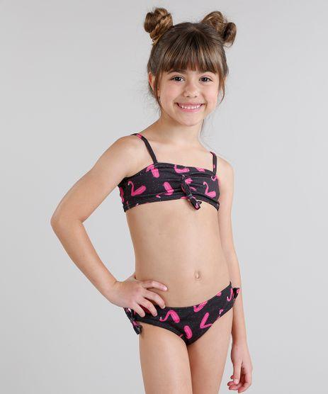Biquini-Infantil-Fabula-Estampado-de-Flamingo-com-Laco-Preto-9229586-Preto_1