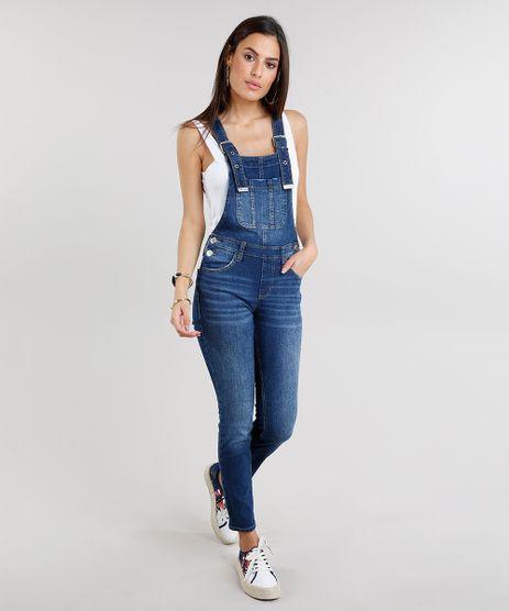 Macacao-Jeans-Feminino-com-Fivelas-Azul-Escuro-9269753-Azul_Escuro_1