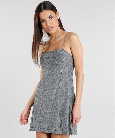 94443e51c2 Vestido-Feminino-com-Lurex-Curto-Cinza-9270431-Cinza 1 ...