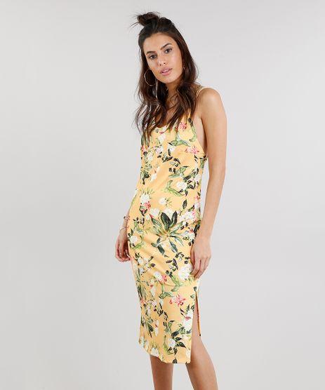 Vestido-Midi-Feminino-Estampado-Floral-Amarelo-9278891-Amarelo_1