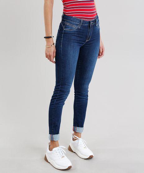 Calca-Jeans-Feminina-Cigarrete-Sawary-Push-Up-com-Barra-Dobrada-Azul-Escuro-9240761-Azul_Escuro_1
