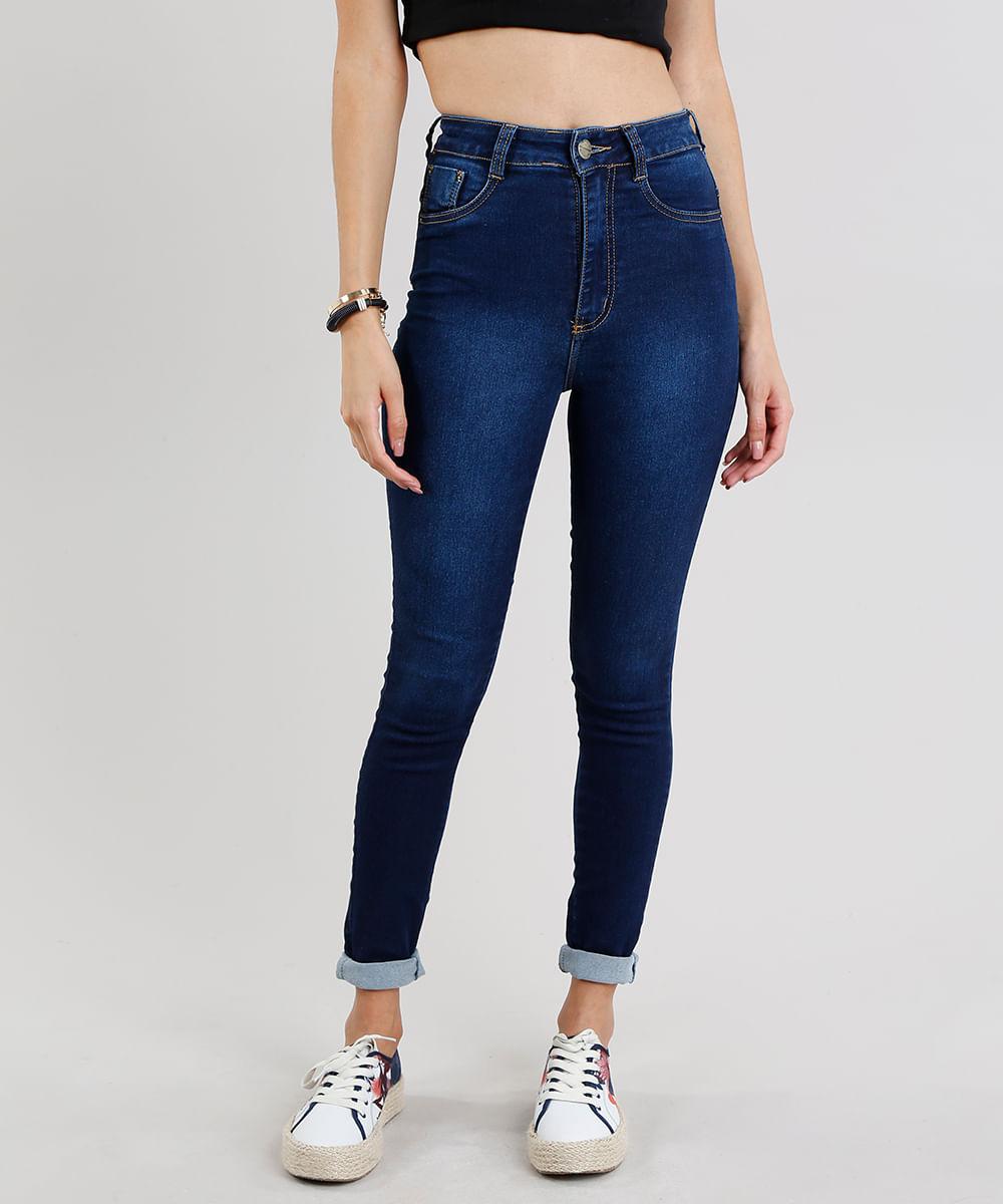 6c420da62 Calça Jeans Feminina Sawary Super Lipo Super Skinny Azul Escuro ...