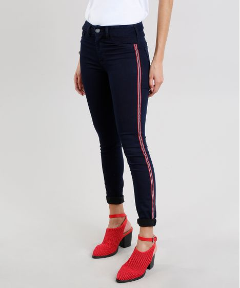 19639db17 Calça Jeans Feminina Super Skinny Energy Jeans com Faixas Laterais ...