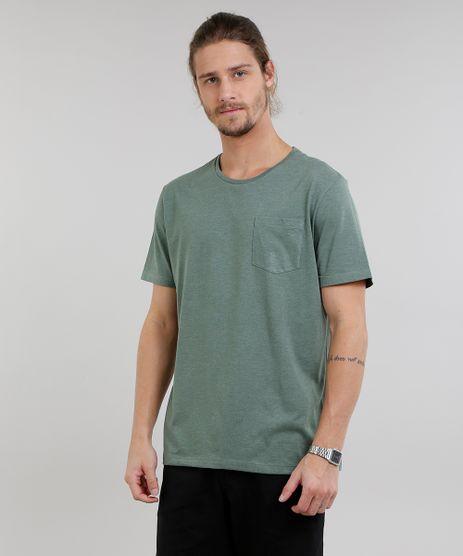 Camiseta-Masculina-Basica-Mescla-Manga-Curta-Gola-Careca-Verde-Militar-9226101-Verde_Militar_1