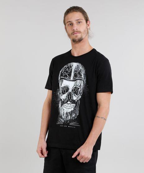 Camiseta-Masculina-Caveira-Manga-Curta-Gola-Careca-Preta-8731439-Preto_1
