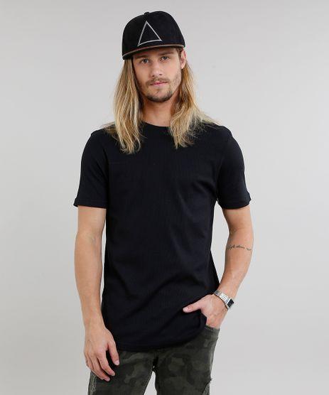 Camiseta-Masculina-Basica-Canelada-Manga-Curta-Gola-Careca-Preta-9240568-Preto_1