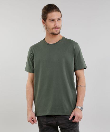 Camiseta-Masculina-Basica-Manga-Curta-Gola-Careca-Verde-Militar-9222311-Verde_Militar_1