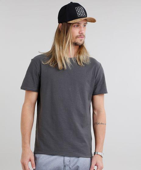 Camiseta-Masculina-Basica-Flame-Manga-Curta-Gola-Careca-Chumbo-9240581-Chumbo_1