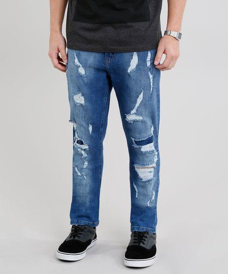 Calca-Jeans-Masculina-Carrot-Destroyed-Azul-Medio-9203955-Azul_Medio_1