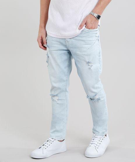 Calca-Jeans-Masculina-Carrot-Destroyed-Azul-Claro-9203954-Azul_Claro_1