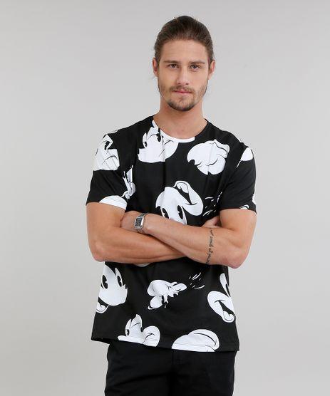 Camiseta-Masculina-Estampada-Mickey-Mouse-Manga-Curta-Gola-Careca-Preta-9215844-Preto_1