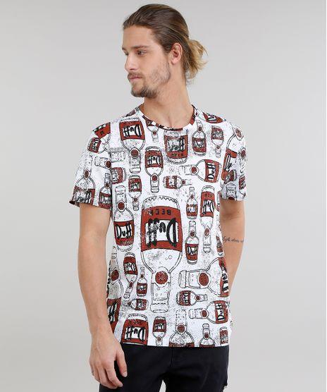 Camiseta-Masculina-Estampada-Duff-Os-Simpsons-Manga-Curta- 1c3500af2af