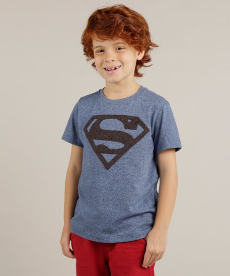 Camiseta-Infantil-Super-Homem-Manga-Curta-Gola-Careca-Azul-9233614-Azul_1